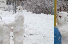 Извращенцы добрались до снега