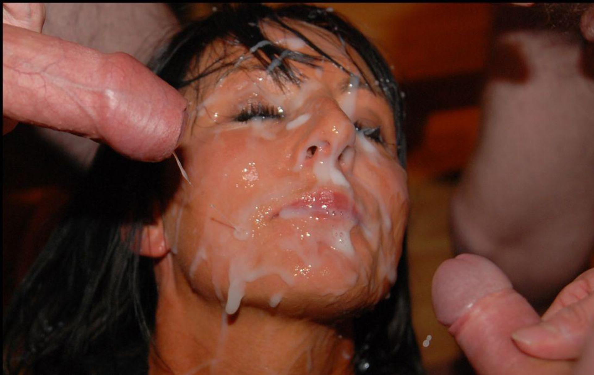 Забрызгал много личико ее спермы лице домашние спермой видео на