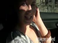 Сделал приятно девушке в машине