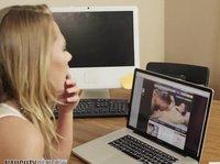Просмотр порно на работе вызывает секс